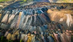 Scarichi della roccia dalle cave Immagine Stock