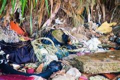 Scarichi la foto del sito per la promozione di riciclano il progetto per il migliore ambiente Fotografia Stock