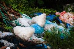 Scarichi la foto del sito per la promozione di riciclano il progetto per il migliore ambiente Fotografie Stock