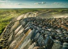 Scarichi multicolori della roccia dalle cave Immagini Stock