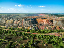 Scarichi multicolori della roccia dalle cave Immagine Stock Libera da Diritti