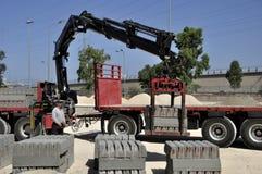 Scarico del camion fotografia stock