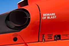 Scarico del motore dell'elicottero Fotografia Stock Libera da Diritti