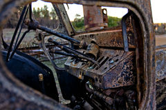 Scarico dell'automobile Fotografie Stock