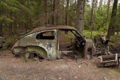 Scarico dell'automobile in Kirkoe Mosse Immagini Stock