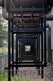 Scarico della centrale elettrica Fotografia Stock