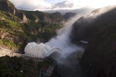 Scarico della diga dell'acqua Immagine Stock Libera da Diritti