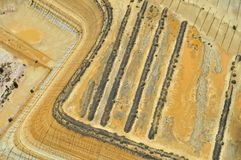 Scarico della miniera Immagine Stock