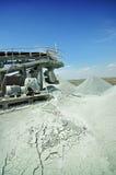 Scarico della miniera del diamante Fotografia Stock