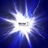 Scarico di elettricità Fotografia Stock