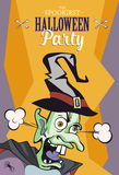 Scaring cartoon character. Vector illustration for halloween party, article, card or brochure, invitation or poster.  Stock Photo
