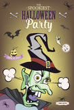 Scaring cartoon character. Vector illustration for halloween party, article, card or brochure, invitation or poster. Set of holida Royalty Free Stock Photos