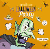Scaring cartoon character. Vector illustration for halloween party, article, card or brochure, invitation or poster. Set of holida Stock Images