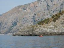 Scario - canoa a Punta Spinosa Fotografia Stock