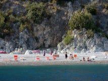 Scario - plage de mouettes Photo libre de droits