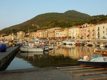Scario - View of the harbor at dawn Stock Photography