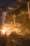 Scarisoara Cave. Scarisoara Ice Cave in Romania stock photography