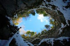 Scarisoara Höhle Stockbild