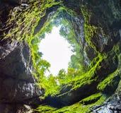 Scarisoara ice cave. Entrance, Apuseni mountains, Romania royalty free stock photo