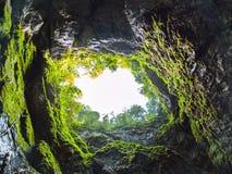 Scarisoara ice cave. Entrance, Apuseni mountains, Romania stock photography