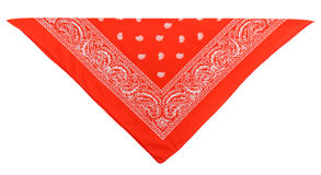 Scarlet  bandanna (kerchief) Royalty Free Stock Photography