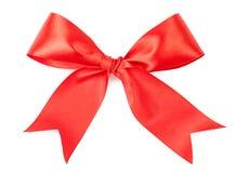 Scarlet bow isolated on white background Stock Image