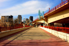 Scarlet Bridges of St. Paul. A picture of the beautiful scarlet bridges of St. Paul Minnesota Royalty Free Stock Photo