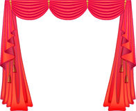Scarlet curtains Royalty Free Stock Photo