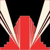Scarlet Deco Design Stock Photo