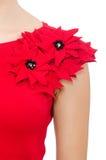 Scarlet dress isolated on white Stock Photo