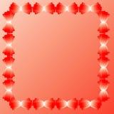 Scarlet frame. Flower frame with scarlet colors Stock Images