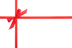 Scarlet gift ribbon bow Royalty Free Stock Photo