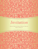 Scarlet invitation Stock Image