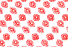 Scarlet lips Stock Image