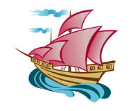 Scarlet Sails Royalty Free Stock Image