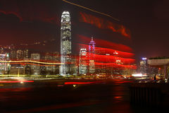 Scarlet sails against of night Hong Kong Royalty Free Stock Photo