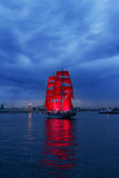 Scarlet Sails celebration in St Petersburg. Stock Photos