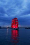 Scarlet Sails celebration in St Petersburg. Stock Photos