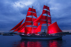 Scarlet Sails celebration in St Petersburg. Stock Images