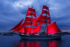 Scarlet Sails celebration in St Petersburg. Stock Images