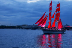 Scarlet Sails celebration in St Petersburg. Royalty Free Stock Photos