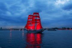 Scarlet Sails celebration in St Petersburg. Stock Image