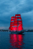 Scarlet Sails celebration in St Petersburg. Royalty Free Stock Image