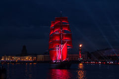 Scarlet Sails celebration in St Petersburg. Royalty Free Stock Image