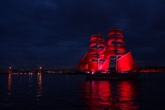 Scarlet Sails celebration in St Petersburg. Stock Image
