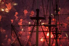 Scarlet Sails show during the White Nights Festival Royalty Free Stock Image