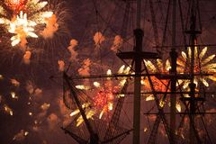 Scarlet Sails show during the White Nights Festival Royalty Free Stock Photo