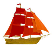 Scarlet sails Royalty Free Stock Images