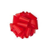 Scarlet satin gift bow Royalty Free Stock Image