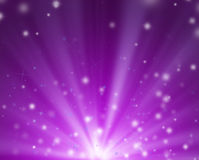 Scarlet shooter rays and stars background. Scarlet uprise lights with meteoric stars in scarlet background Vector Illustration